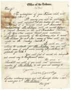 Horace Greeley / Offer Of The Tribune 1845 Trade And Commerce