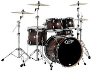 Pacific By Dw 5-piece Concept Maple Exotic Shell Pack Charcoal Burst Over...