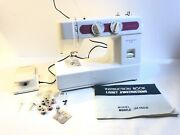 Janome New Home Limited Edition Sewing Machine Model Ja 1508 Rare Pink + Extras