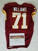 71 Trent Williams Of Redskins Nfl Game Worn And Unwashed Jersey Vs. Giants Wcoa