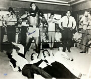 Muhammad Ali Signed Autographed 16x20 Photo Pictured With The Beatles