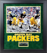 Bart Starr And Paul Hornung Autographed Green Bay Packers 16x20 Photo Framed Jsa