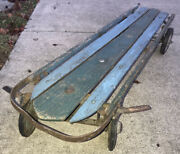 Flexy Racer No. 300 4 Wheel Sled Original / Made In Usa S.l. Allen And Co Phila Pa