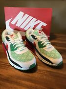 Brand New Nike Air Max 90 Nordic Christmas Sweater - Dc1607-100 - Mens Size 10.5