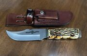 Uncle Henry Schrade 171uh Hunting Knife W/sheath And Stone 2014 Limited Edition