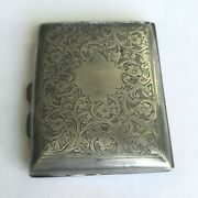 1915 Sterling Silver 3x 2.25x 1/2 Antique English Snuff And Pill Box