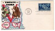 906 Chinese Resistance Dorothy Knapp Hand Painted Cachet 1942 Wwii Fdc