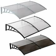 80x40/40x30window Awning Outdoor Polycarbonate Front Door Patio Cover Canopy