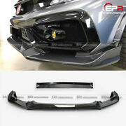 For Civic Typ-r Fk8 2017+ Vrsar2 Style Carbon Front Lip 2pcs With Ic Shroud