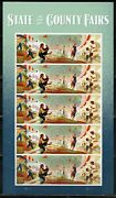 United States State And County Fairs Forever Stamps Complete Sheet Mint Nh