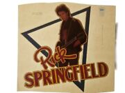 Vintage Iron On T-shirt Transfer Rick Springfield 80s Rock Star And Actor Glitter