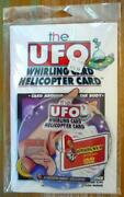 Houdini The Ufo Whirling Card Helicopter Card Book W/houdini Magic Exclusive Dvd