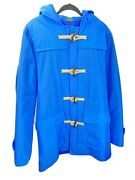 Vtg Lardini Men's Duffel Jacket Blue Rope Toggle Button Xl Italy One Of A Kind