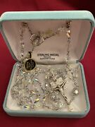 Crystal/sterling Silver Rosary Clear/clear By Hmh