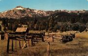 Cattle Corral And Cowboy's Retreat High Sierras California C1960s Vintage Postcard