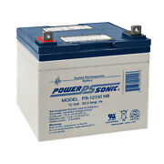 Power-sonic 12v 33ah Sla Battery Replaces Craftsman 25780 Lawn Tractor And Mower