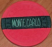 N/d 4th Edition 1953 Gaming Chip From The Monte Carlo Club Casino. Las Vegas R9