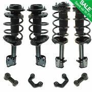 8 Piece Front And Rear Suspension Kit Strut And Spring Assemblies W/ Sway Bar Links