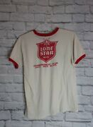 Vintage Lone Star Beer T Shirt Armadillo 1977 Mens Large Rare Country Sunday 70s