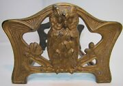 Antique Wise Owl Decorative Arts Expandable Bookends Book Rack Ornate Detailed