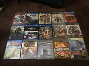 Video Game Lot - Ps4, Ps3, Xbox 360 - 15 Titles - God Of War, Dragon Quest, More