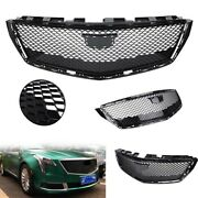 Black Car Front Grille Grill Fit For 2018 2019-20 Cadillac Xts Sedan Plastic