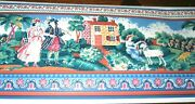 Victorian People Country Scene House Wall Wallpaper Border Eh00153
