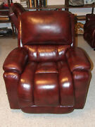 La-z-boy Beautiful Leather Manual Reclining Chair In Perfect Unused Condition