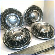 1964 1965 Mustang Or Comet Nos 13 Rotunda 36 Spoke Wire Hubcaps C4oz-1130-t