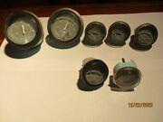 Faria Corp. 7 Piece Boat Gauges Tach And Speedometer Vintage 1993