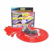 Taylor 79253 Spark Plug Wires 409 Pro Race Spiro-wound 10.4mm Red 135 Degree New