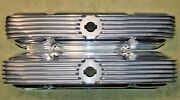 Aluminum Valve Covers For Mopar 426 Max Wedge 4 Bolt / Polished / Used / Rare