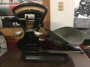 Early 1900and039s Antique Toledo Honest Weight Balance Scale Candy Commodities