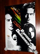 The Fast And The Furious-rapides Et Dangereux-french Poster 40x27- Vin Diesel-nm