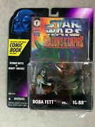 Star Wars Boba Fett And Ig-88 Shadows Of The Empire Figures And Comic Rare