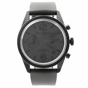 Bell And Ross Heritage Steel Pvd Gray Dial Rubber Automatic Mens Watch Br126-94-sc