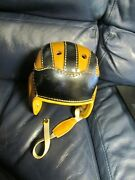 Antique 1930's Period Leather Football Helmet House Of Harter Rare Notre Dame