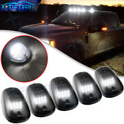 5pc Smoked Lens White Led Cab Roof Clearance Lights For Ram 1500 2500 3500