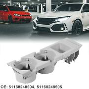 1 Set Car Center Console Cup Holder With Coin Box Gray 51168248504 For Bmw 330xi