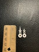 Cuckoo Clock Parts- Very Small 3/4andrdquo Center Hole Novelty Hands - Platic White G