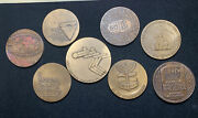 8 Pc Lot Various Bronze Israeli Commemorative Medals - More Available