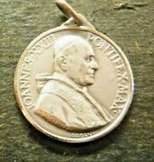 Large Silver Medal Of Pope John Xxiii And Our Lady Of Perpetual Help