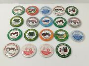 Lot Of 19 Old Timers Days Tractor Show Pinback Buttons - Xenia Ohio