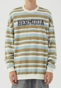 Long Sleeve Sweater Color Block Patchwork Stripes Thin Unisex Harajuku Pullover