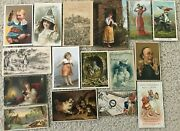 300 Piece Collection Of Victorian Advertising Trade Cards Many Scarce Must Sell
