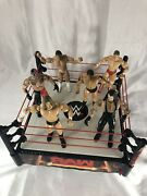 2010 Mattel Wwe Raw Main Event Ring 13andrdquox13andrdquo With 6 Figures- Read Description