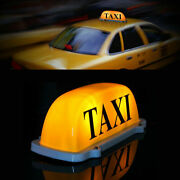 Led Car Taxi Meter Cab Roof Top Sign Light Lamp Magnetic Magnet Yellow Box Taxi