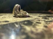 Hand Designed Silver Ring With Hand Cut Black Emerald Stone For Menandrsquos