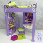 American Girl Doll Mckenna Loft Bed All Accessories Chair Desk Bedroom Furniture
