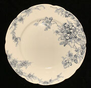 Antique Colonial Pottery Stoke England Clifford Salad Plate Blue Transferware